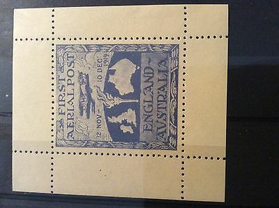 Stamps Australia Faximily of 1919 First Aerial post.
