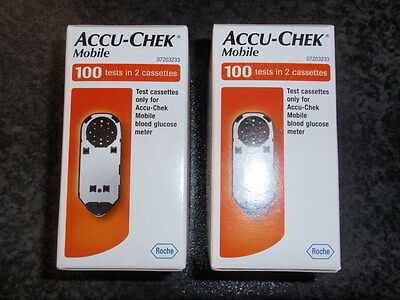 accu check mobile cassettes , 200 tests in 4 cassettes  x 50