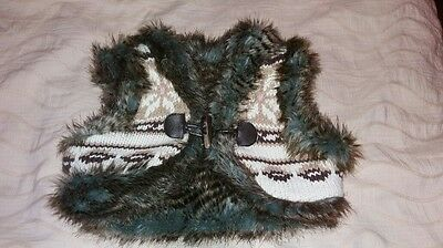 Gap Faux Fur and Knit Reversible Gillet Aged 4