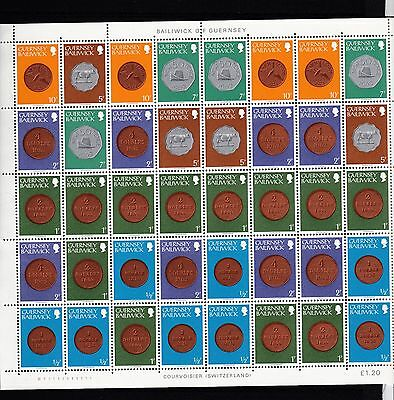 Guernsey Coins Issues Full Sheets Mnh Selection !!!!!!!!!!!!!!!!!!!!!!!