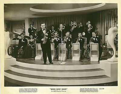 LES BROWN & THE BAND OF RENOWN Original 1942 RKO Photo SEVEN DAYS' LEAVE