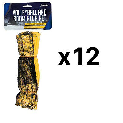 Franklin Sports Badminton/Volleyball Net Universal Fit Screen PVC Pole (12-Pack)