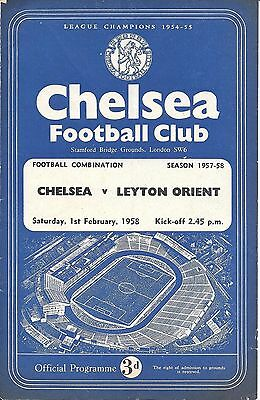 Chelsea Reserves v Leyton Orient Reserves 1957/58 - 4 Page