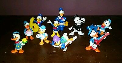 10 Donald Duck PVC Figuirines Applause Bully + more