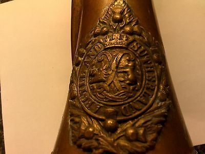Old Argyle And Sutherland  Copper & Brass Bugle With  Mouthpiece