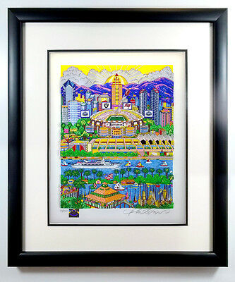 "Charles Fazzino ""Super Bowl XXXVII: San Diego"" Regular Edition Framed Football"