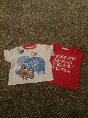 M & Co And George Baby Boys Tops 9-12 Months With Gorgeous Designs
