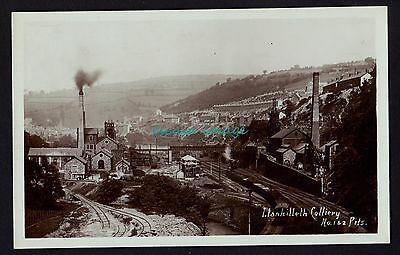 LLANHILLETH COLLIERY elevated view postcard