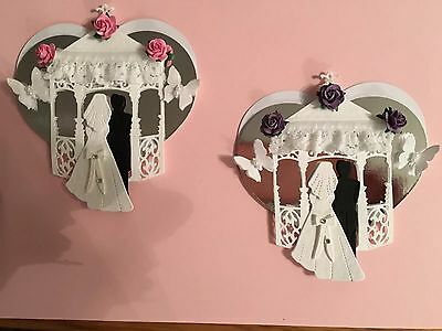 2 Wedding Gazebo Heart Card Toppers With Lace