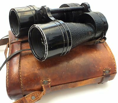 ROSS London Bino Prism No.5 MKII x7 1939 Vintage Binoculars With Case - S77