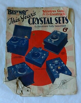 Interesting Vintage Bestway Electrical Magazine Wireless Guide Crystal Sets