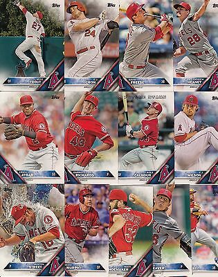 Topps 2016 Complete Set LOS ANGELES ANGELS-21 Cards