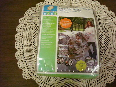 Especially For Baby Deluxe Tandem Stroller Weather Shield, New