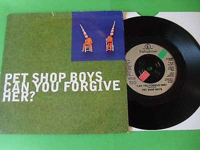"""Pet Shop Boys - Can You Forgive Her   7""""  93  Vg"""