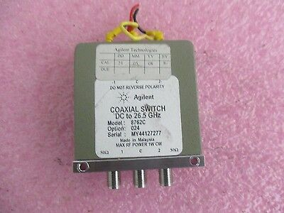 Agilent  Model: 8762C Coxial Switch.  Option: 024