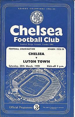 Chelsea Reserves v Luton Town Reserves 1958/59 - 4 Page