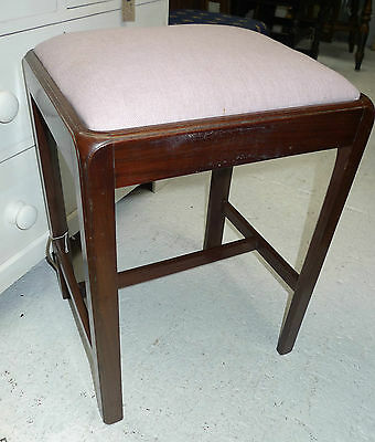 LOVELY MAHOGANY STOOL LATE GEORGIAN OR WILLIAM IVth.