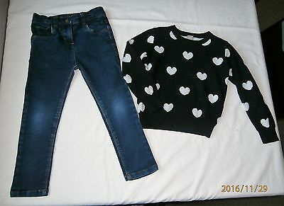 denim & co & tu girls outfit age 4-5 & 4 years