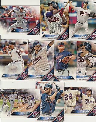 Topps 2016 Complete Set MINNESOTA TWINS-21 Cards