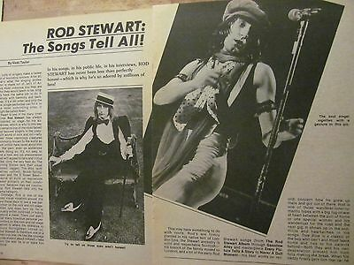 Rod Stewart, Two Page Vintage Clipping