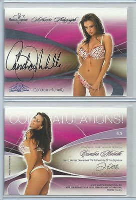 Orig. Candice Michelle Autogramm - sexy Benchwarmer Card - Signature Serie 2008