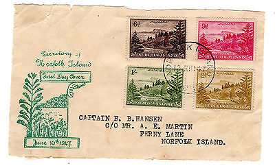 1947 Norfolk Is. Ball Bay Fdc
