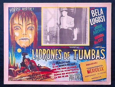 BELA LUGOSI LOBBY CARD Bowery At Midnight GREAT MEXICAN ART BY AGUIRRE TINOCO