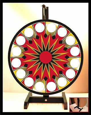 "Casino Prize Wheel 18"" Spinning Tabletop Portable"