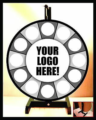 "Prize Wheel 18"" Spinning Portable Tabletop-Custom Logo"