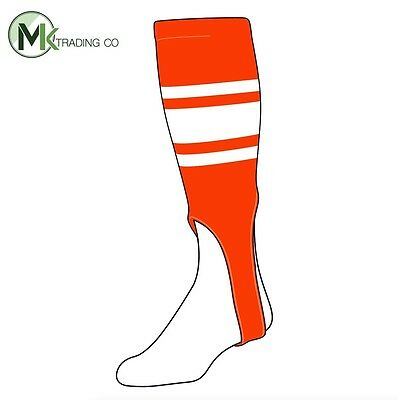 "TCK® Small/Youth, 100C, 6"" - Orange–White - MLB® Baseball Stirrups"