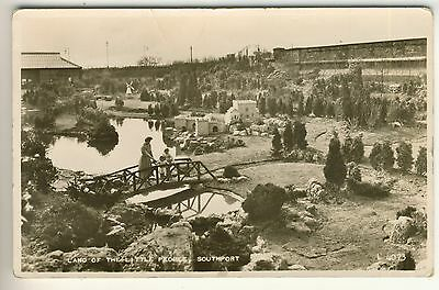 A Valentine's Real Photo Post Card of Land Of The Little People, Southport.