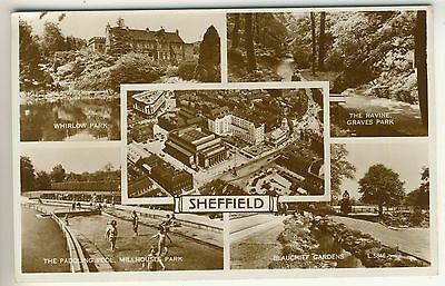 A Valentine's Real Photo Multiview Post Card of Sheffield. South Yorkshire