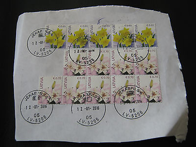 14 x Used Latvia Stamps 2015 & 2014 - as scan (2678bk)