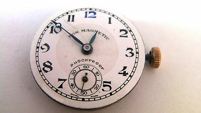 Rotary Vintage Enamel Dial watch Movement Spares or Repair Cal 270