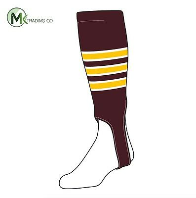 "TCK® Small/Youth, 100D, 5"" - Maroon–White–Gold - MLB® Baseball Stirrups"