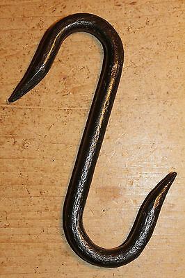 Antique Wrought Iron S Hook~Meat/Beam/Game/Hook~(Butchers/Bacon Hook)