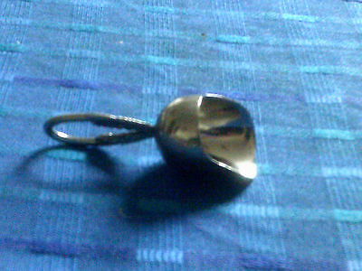 Small White Metal Scoop With Handle