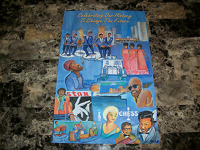 Motown Stax Chess Records RARE Promo Poster Barry Gordy Diana Ross Chuck Berry