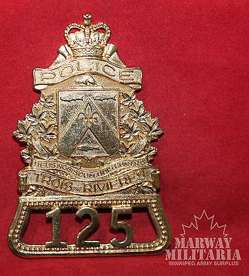 OBSOLETE - TROIS - RIVIERES Quebec Police Number 125 Badge (inv 8779)