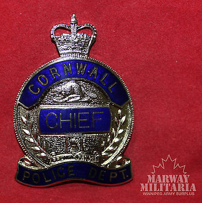 OBSOLETE - CORNWALL POLICE DEPARTMENT Ontario CHIEF Badge (inv 8780)