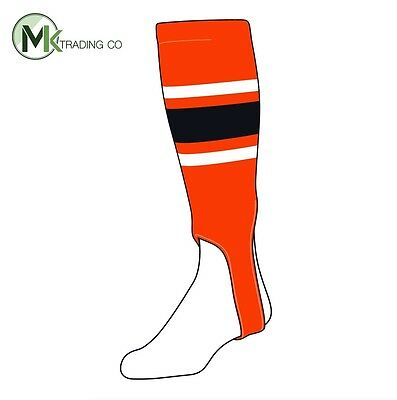"TCK® Small/Youth, 100E, 5"" - Orange–White–Black  MLB® Baseball Stirrups"