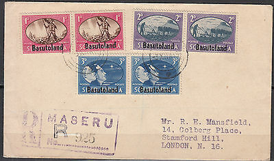Basutoland - 3.12.1945 Peace Issue on registered  FDC (1249)