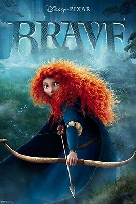 DISNEY/PIXAR BRAVE ~ MERIDA WITH BOW ~ 24x36 MOVIE POSTER NEW/ROLLED!