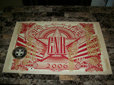 Guns N' Roses Rare Authentic 2006 Licensed Tour Poster Axl Rose Schucki Ron Thal