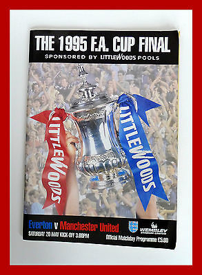 1995 F.A. Cup Final Everton v Manchester United Official Programme Football