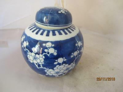 19Th Century Chinese Blossom Ginger Jar- 4 Character Mark