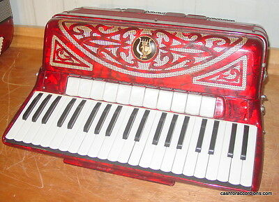 Soprani Full Size Accordion In Great Working Condition! 11/treble - 4/bass Nice!