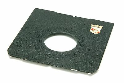 Linhof Technika Style Wista Flat Off-Center Lens Board #0 With Logo & Hole 35mm.