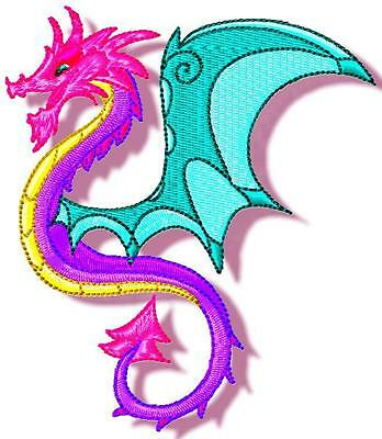 Dramatic Dragons 10 Machine Embroidery Designs Cd 2 Sizes 3 Styles