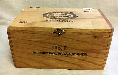 Excalibur Wood Cigar Box Case w Dovetail Corners 8 x 4 x 4